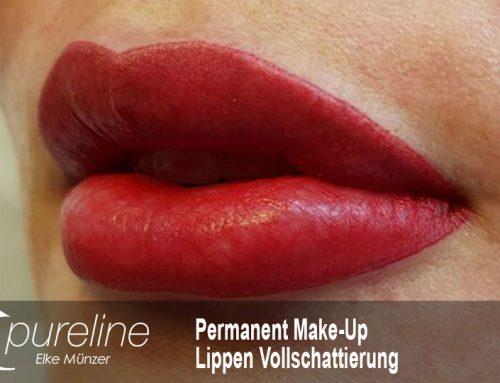 Permanent Make-Up Lippen Vollschattierung