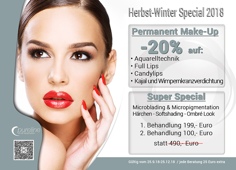 Beauty Bonn-Pureline- Kosmetik Angebot Bonn - Herbst / Winter 2018